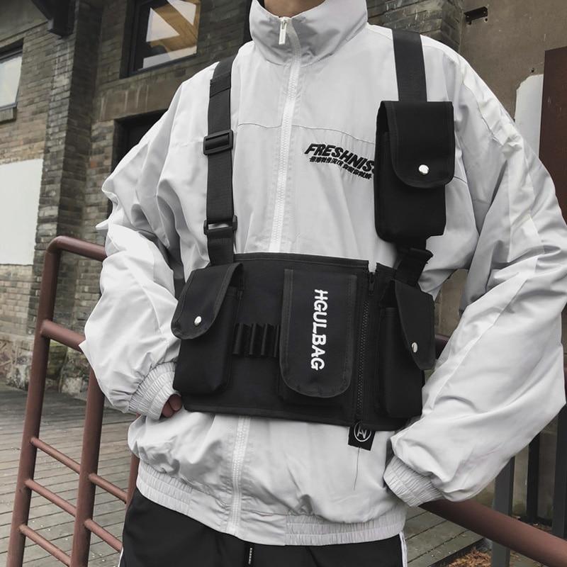 Tactical Chest Bags For Men Women Hip-Hop Harness Bag Streetwear Functional Waist Bags Travel Crossbody Bag Male Canvas Pocket