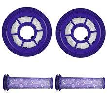 Aspirador de pó elemento filtro traseiro e tela de filtro frontal, prático acessório substituição para dyson dc41/dc65