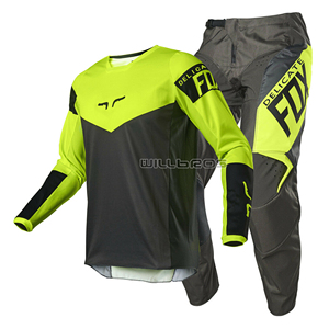 2021 Delicate Fox 180 Revn Motocross MTB Bike Mountain Bicycle Offroad Kits Motorbike Scooter Riding Gear Set Men's Suit
