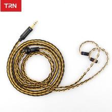 TRN auriculares T1 con cable actualizado chapado en oro y plata, 8 auriculares Core wire para V90, V80, V60, V30, V20, V10, C10, ZST, T2, S2, BQ3, NO.3