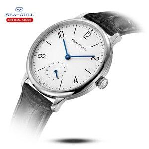 Image 2 - Seagull Marke Uhr ultra dünne mechanische uhr damen uhr mode business leder uhr D 819,612 L