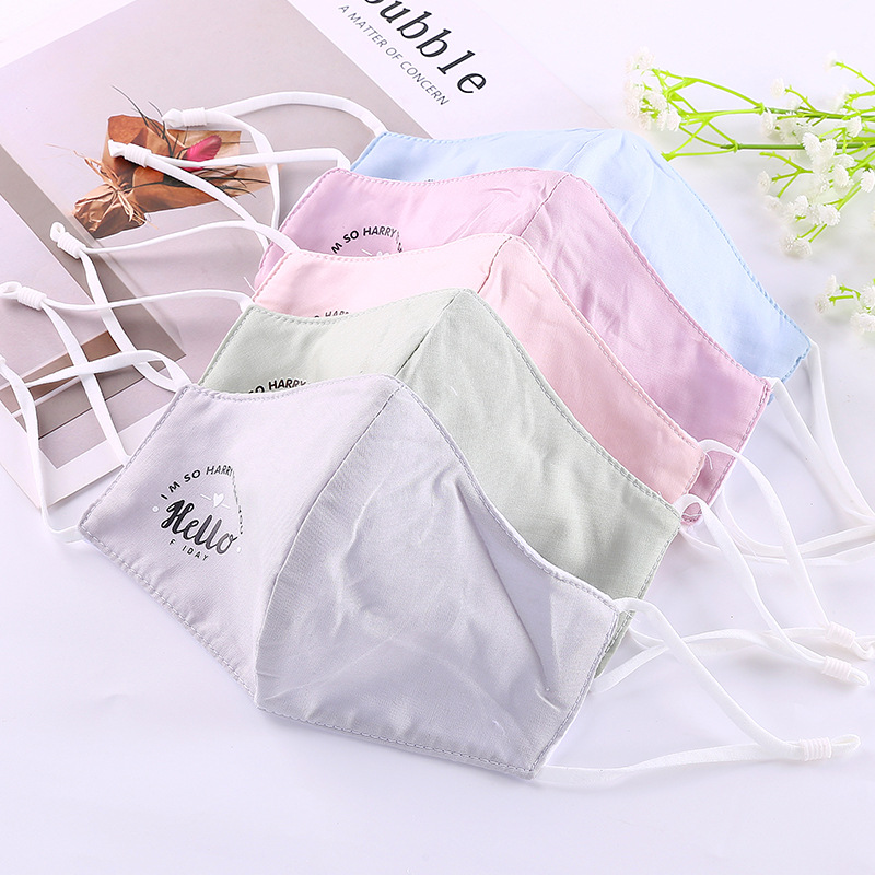 Winter Fashion Women's Foldable Printed Letter Life Face Mask Students Korean-style Warm Windproof Stereo Face Mask Wholesale