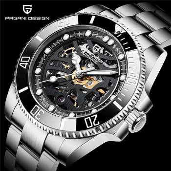 PAGANI DESIGN Stainless Steel Waterproof Mechanical Watch Top Brand Sapphire Glass Automatic Watch Luxury Business Men Watch pagani design top brand luxury mechanical watch stainless steel waterproof automatic watch sapphire glass business men watch