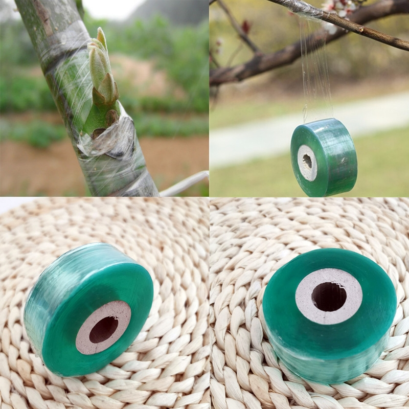 1 Roll Grafting Tape Garden Tools Fruit Tree Secateurs Engraft Branch Gardening Planting Bind Belt PVC Tie Tape 2cmX100m