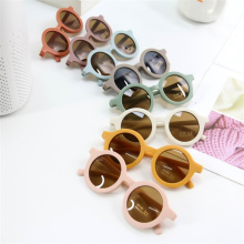New Children's Sunglasses Infant's Retro Solid Color Ultraviolet-proof Round Convenience Glasses Eyeglass For Kids