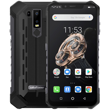 Перейти на Алиэкспресс и купить Ulefone Armor 6S NFC 6 ГБ 128 ГБ IP68 Ударопрочный мобильный телефон, Helio P70 Otca-core, Android 9,0, Беспроводная зарядка, 4G прочный смартфон