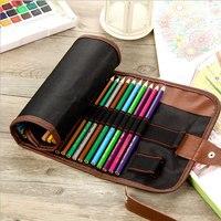72 цвета холщовый чехол для карандашей, занавески, цветные свинцовые рулоны для хранения, цветные карандаши, холщовые занавески, чехол для ка...
