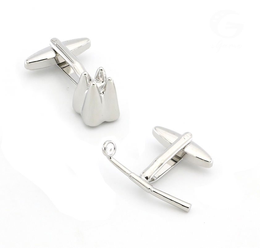 Dentist Design Stomatoscope & Teeth Cufflinks For Men Quality Brass Material Silver Color Cuff Links Wholesale&retail