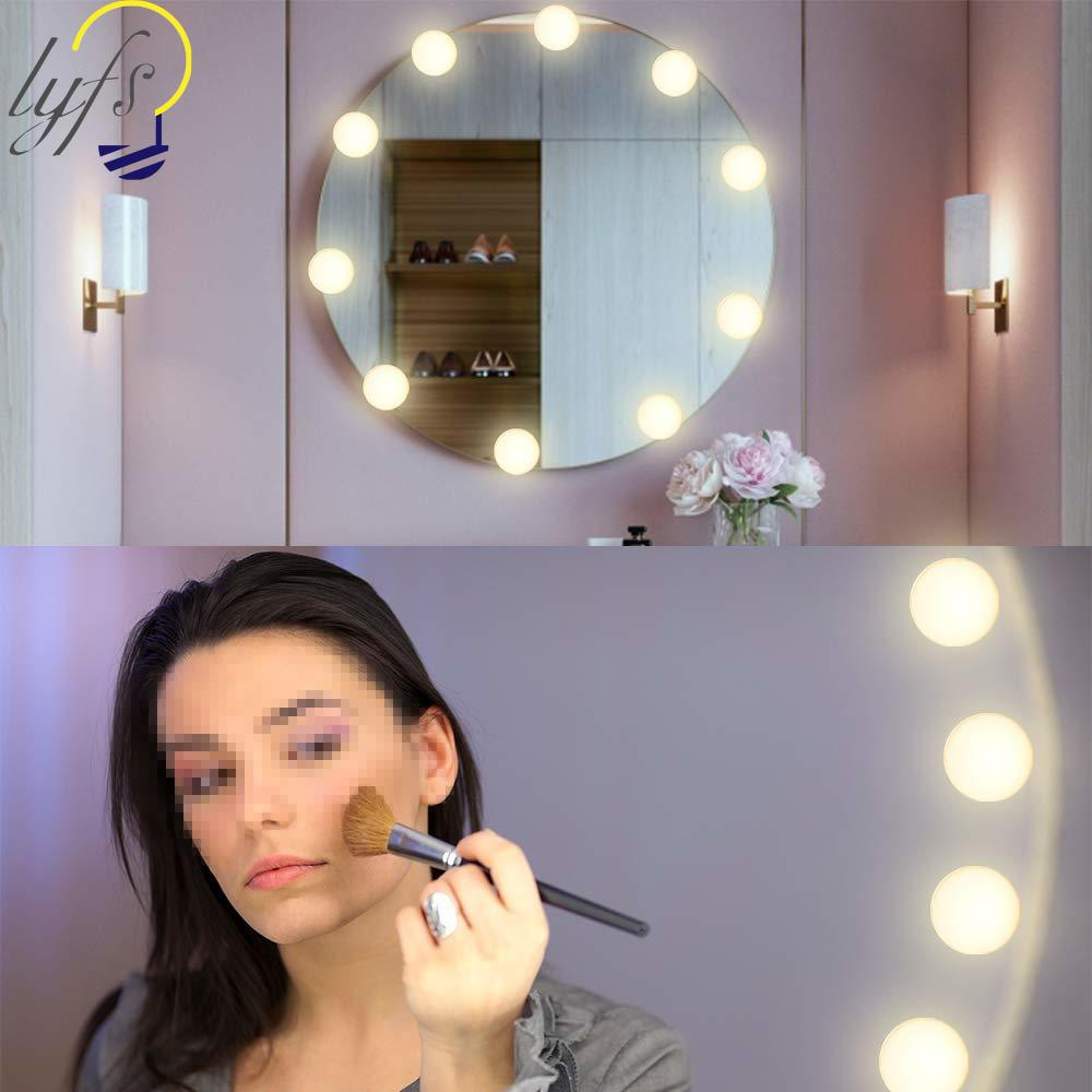 <font><b>Hollywood</b></font> Style Vanity Mirror Lights Kit, Adjustable Color and Brightness with 10 LED Light Bulb Makeup Vanity Table image