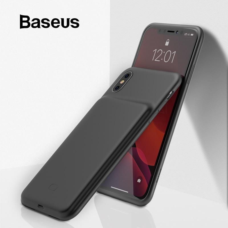 Baseus caso carregador de bateria para iphone x xs xs max xr powerbank caso pacote de carregamento da bateria externa caso de backup para iphone x xs