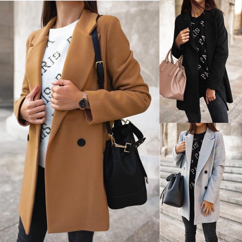 Casual solid warm cotton jackets women coats long sleeve parkas women outwears 2019 autumn winter slim coats female basic jacket