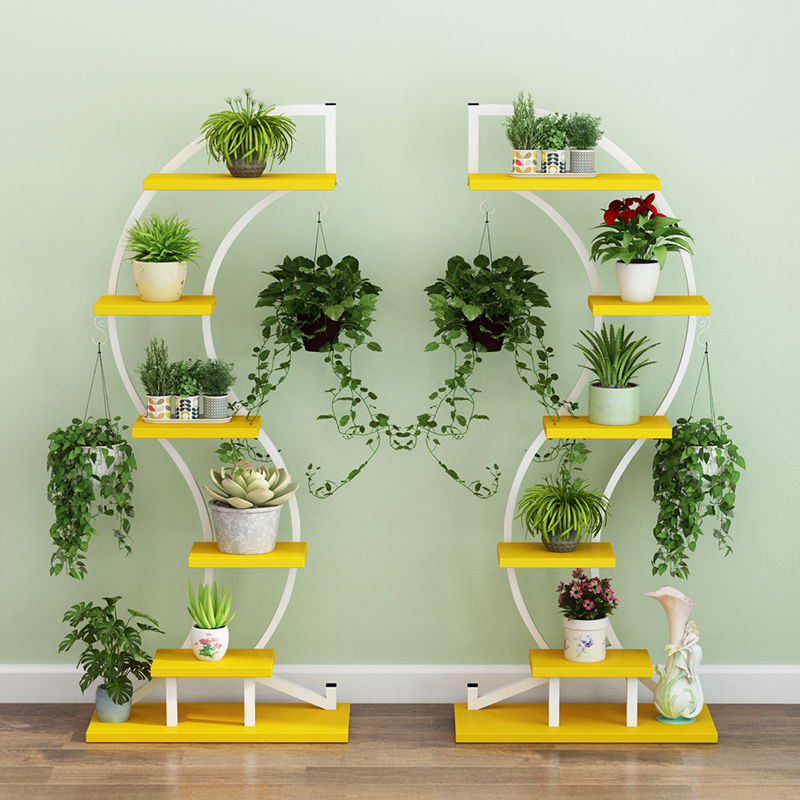 Flower Shelf Indoor Specials New Province Space Home Living Room Iron Green Green Hanging Orchid Storage Pot Rack