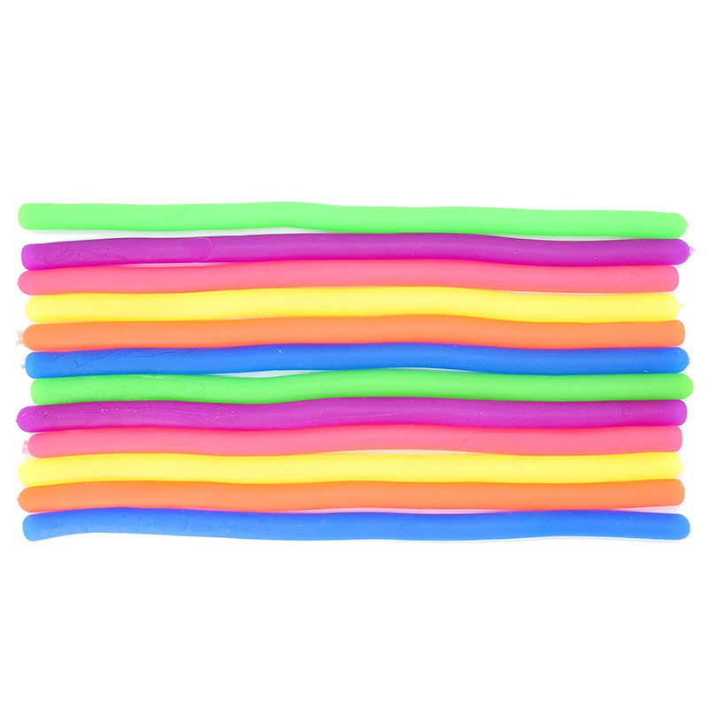 Stretchy String Fidget Sensory Toys Build Resistance Squeeze Pull - Good For Kids With Add, Adhd Or Autism, And Adults To Streng