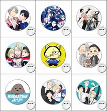1pcs anime Yuri on ice Cosplay Badge carroon Brooch Pins for Backpacks bags Badges Button Clothes Accessories