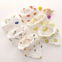 1 шт. детские нагрудники из хлопка для кормления младенцев нагрудники полотенца мультфильм новорожденных девочек мальчик шарф с треугольниками для малышей Бандана милый мультфильм Слюнявчик