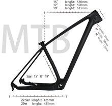 Cadre de vtt en fibre de carbone T1000 UD, vélo de descente, 15, 17 et 19 pouces, fabriqué en chine