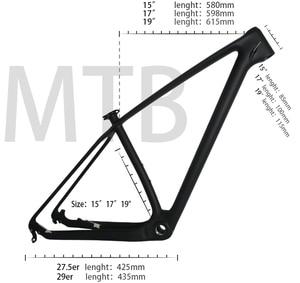Image 1 - Karbon mtb dağ bisikleti çerçeve 29er T1000 UD ucuz çin karbon bisiklet bisiklet şasisi mtb 29er 27.5er 15 17 19 bisiklet karbon çerçeve