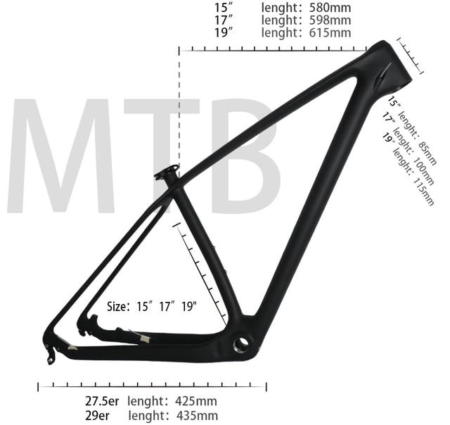 คาร์บอน MTB Mountain จักรยานกรอบ 29er T1000 UD ราคาถูกคาร์บอนจักรยานกรอบจักรยาน MTB 29er 27.5er 15 17 19 จักรยานคาร์บอนเฟรม