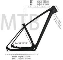 Карбоновая рама для горных велосипедов mtb 29er T1000 UD, недорогая рама для велосипеда из углерода из Китая рама для горного велосипеда 29er 27,5 ER 15 17 19 карбоновая рама для велосипеда