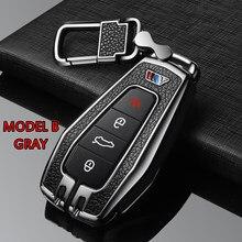 Metall + Silikon Auto Fernbedienung Schlüssel Abdeckung Fall Schlüssel Shell Für Geely EC7 RV EX7 GT GC9 X7 SUV Atlas NL3 SC6 GE EC718 EC715 Zubehör
