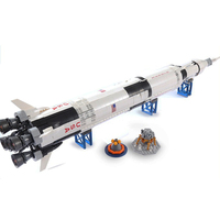 80013 lepinblocks The Apollo Saturn V ideas Creator Rocket 37003 Model Building Block Bricks 21309 11 Lunar Lander 21309