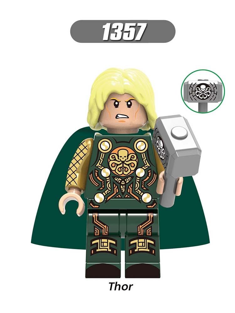 Single Sale Compatible Marvel LEGOINGLYS Super Heroes Avengers Laufey Thor Loki Frigga Building Blocks Diy Dolls Toy Gift X0269