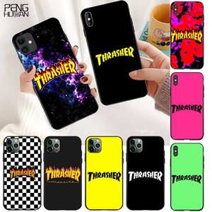 YJZFDYRM thrasher Newly Arrived Black Cell Phone Case for iPhone 11 pro XS MAX 8 7 6 6S Plus X 5S SE 2020 XR case(China)