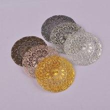 100 шт 55 мм серебро золото бронза Пистолет Металлический Тон филигранные цветочные обертки разъемы для DIY ювелирных изделий FCN-001
