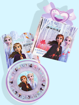 Girls Disney Frozen 2 Elsa Anna Removable Stickers Sofia Pixar Cars Scrapbooking For Kids Diary Notebook Decor Toy Nail Stickers image