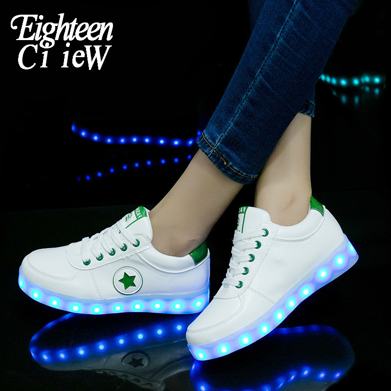 Promotionu LED Light up Shoes USB Flashing Sneakers for Kids Boys Girl