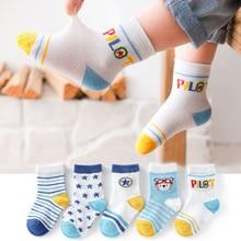 Children Super Soft Cotton Socks Baby Boys Breathable Socks Cartoon Running Sports Stocking Summer Thin Mesh Socks