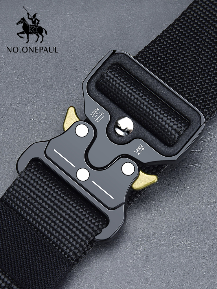 NO.ONEPAUL Tactical-Belt Buckle Sports-Hook Nylon Military Multifunctional Metal Outdoor