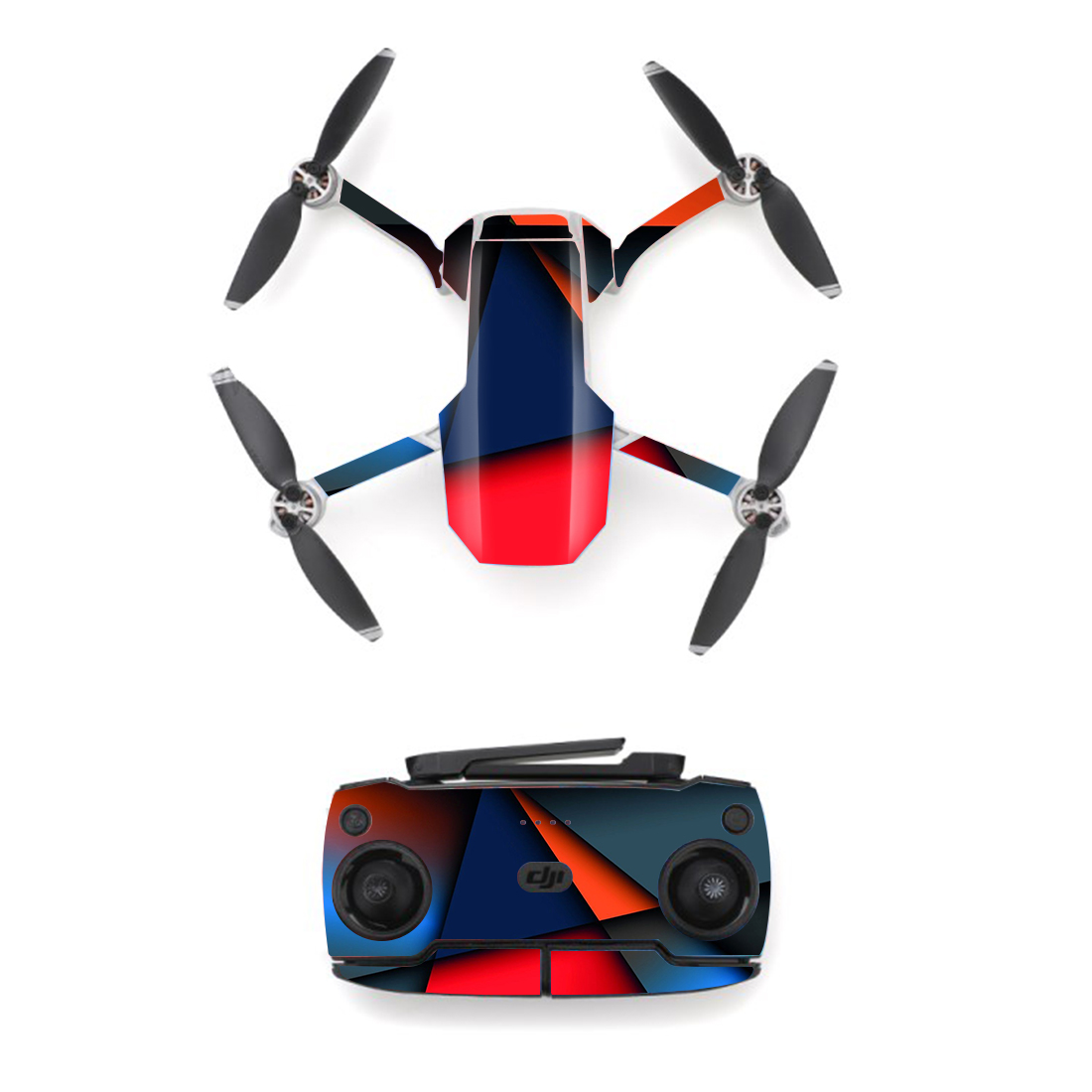 Colorful Block Style Skin Sticker For DJI Mavic Mini Drone And Remote Controller Decal Vinyl Skins Cover M0080