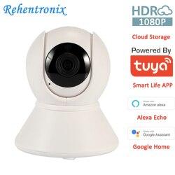 1080P PTZ bezprzewodowa WiFi inteligentna kamera bezpieczeństwa Tuya Alexa Google Home sterowanie głosem kamera CCTV do przechowywania w chmurze kamera ONVIF CCTV