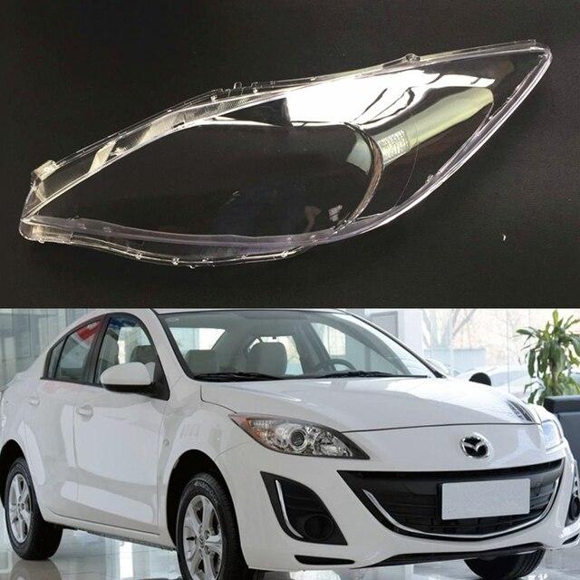 車のヘッドライトレンズマツダ 3 速度透明車のヘッドライトヘッドランプレンズ自動シェルカバー