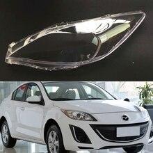Araba far camı Mazda 3 için hızlı şeffaf araba far far Lens otomatik kabuk kapak