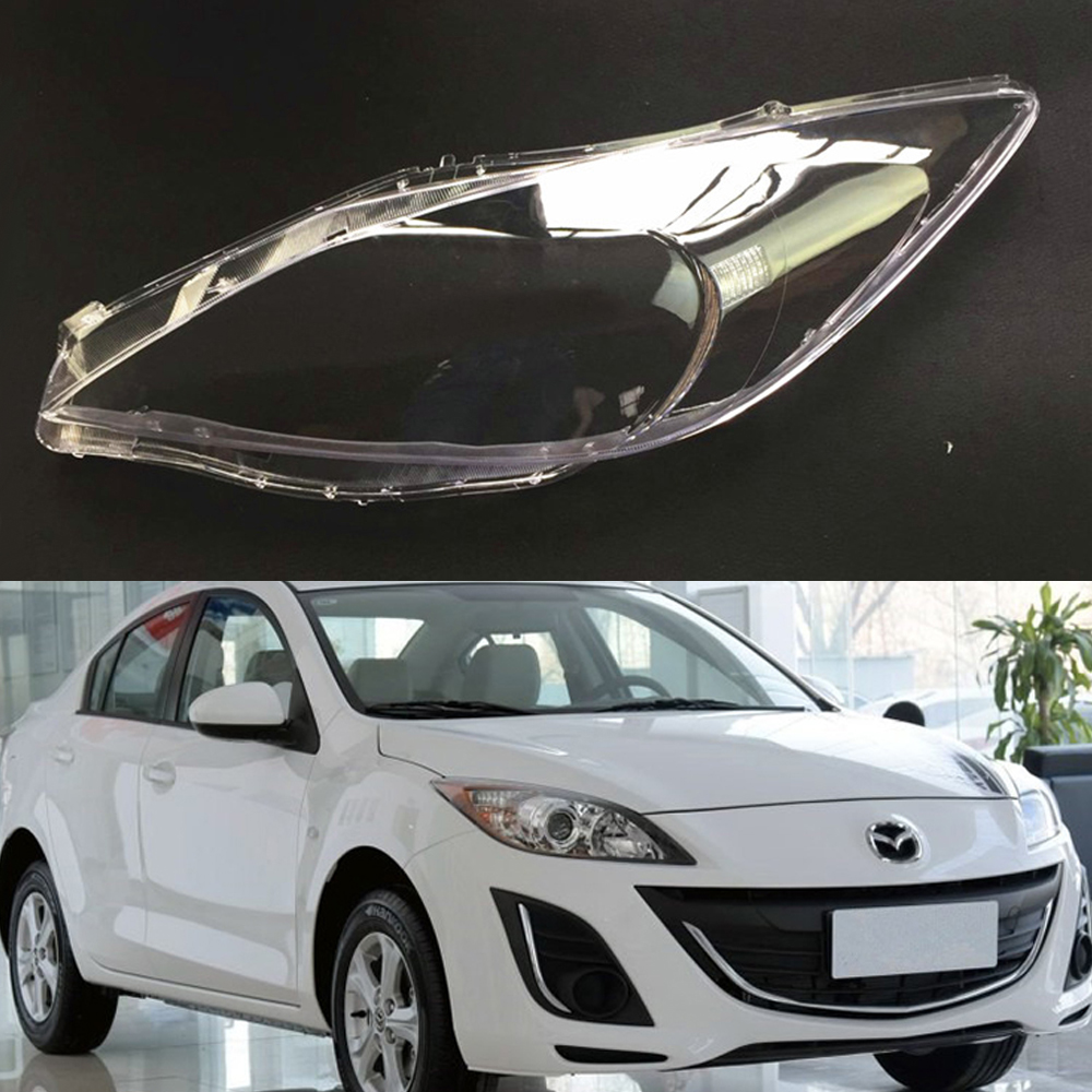 For Mazda 3 Speed Transparent Car Headlight Headlamp Clear Lens Auto Shell Cover