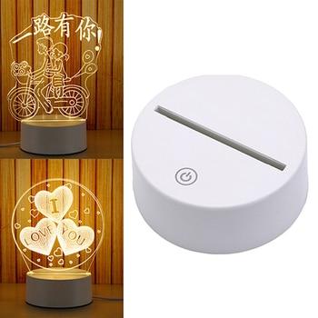 1Pcs 3D Night Light holder Lamp Base For LED White Led Holder