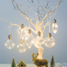 Artificial Clear Bulb Christmas Ball Pendants Xmas Tree Hanging Pendant Ornament Holiday Party Festive Home Decoration