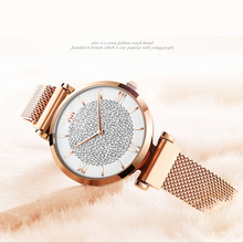 Starry watch diamond starry sky iron magnetic stainless steel mesh quartz reloj mujer relogio feminino