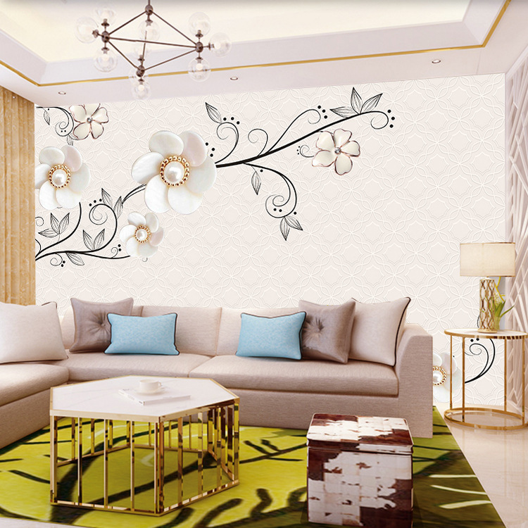 TV Backdrop Wallpaper 8D Minimalist Modern Decoration Living Room Bedroom Film And Television Wall Cloth 3D Wallpaper 5D Mural