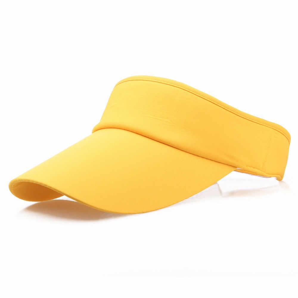 الرجال النساء عصابة رياضية للرأس الكلاسيكية الشمس الرياضة قبعة بواقٍ للشمس