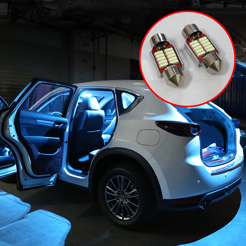 5x Festoon 31mm C10W LED Bulb Car Interior Light Kit Dome Reading Lamps Trunk Light For Mazda CX-5 CX5 KE KF 2012-2018 2019 2020