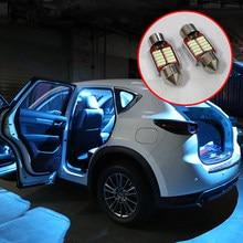 5x гирлянда 31 мм C10W светодиодный лампы автомобиля внутренний светильник комплект купола лампы для чтения багажник светильник для Mazda CX-5 CX5 KE ...