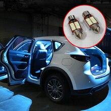 5x Festoon 31mm C10W LED ampoule voiture intérieur Kit de lumière dôme lampes de lecture lumière de coffre pour Mazda CX 5 CX5 KE KF 2012 2018 2019 2020