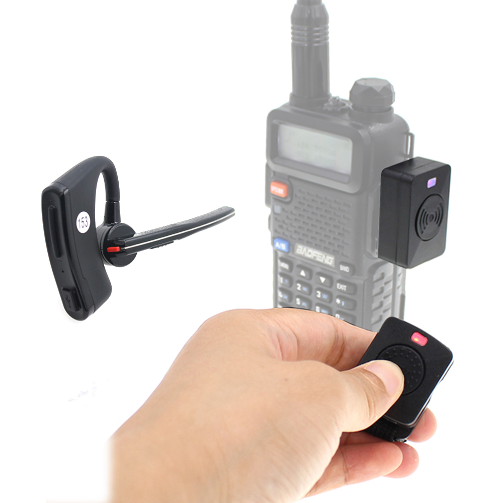 Walkie Talkie Wireless Hands-free PTT Bluetooth Headset Earphone For Baofeng UV-5R UV-82 HYT TC-610 IC-V8 Two Way Radio