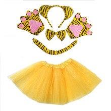 Girl Cosplay Costume Tutu-Skirt Tiger Christmas Halloween Animal Kids Women Headband