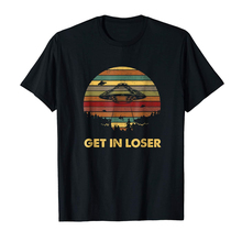 Get In Loser Vintage Alien Black T-Shirt S-3Xl Vintage Graphic Tee Shirt