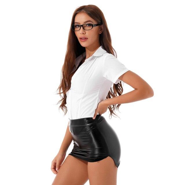 Sexy Office Secretary Role Play Costume #C1534 6