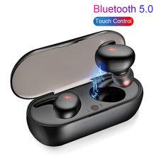Jfwen y30 tws bluetooth 5.0 fones de ouvido estéreo sem fio in-ear redução de ruído à prova dwaterproof água fone de ouvido com caso de carregamento